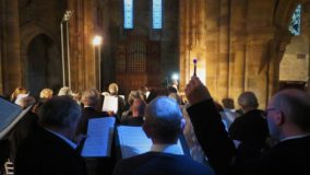 Ascension day choir light sharing