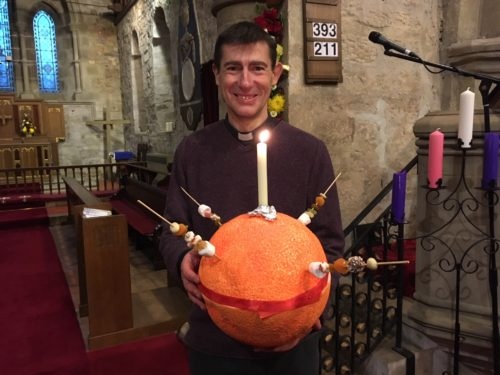 James and the Giant Christingle